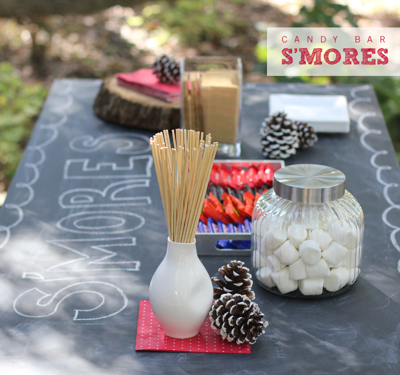 Candy Bar S'mores | Warm Hot Chocolate