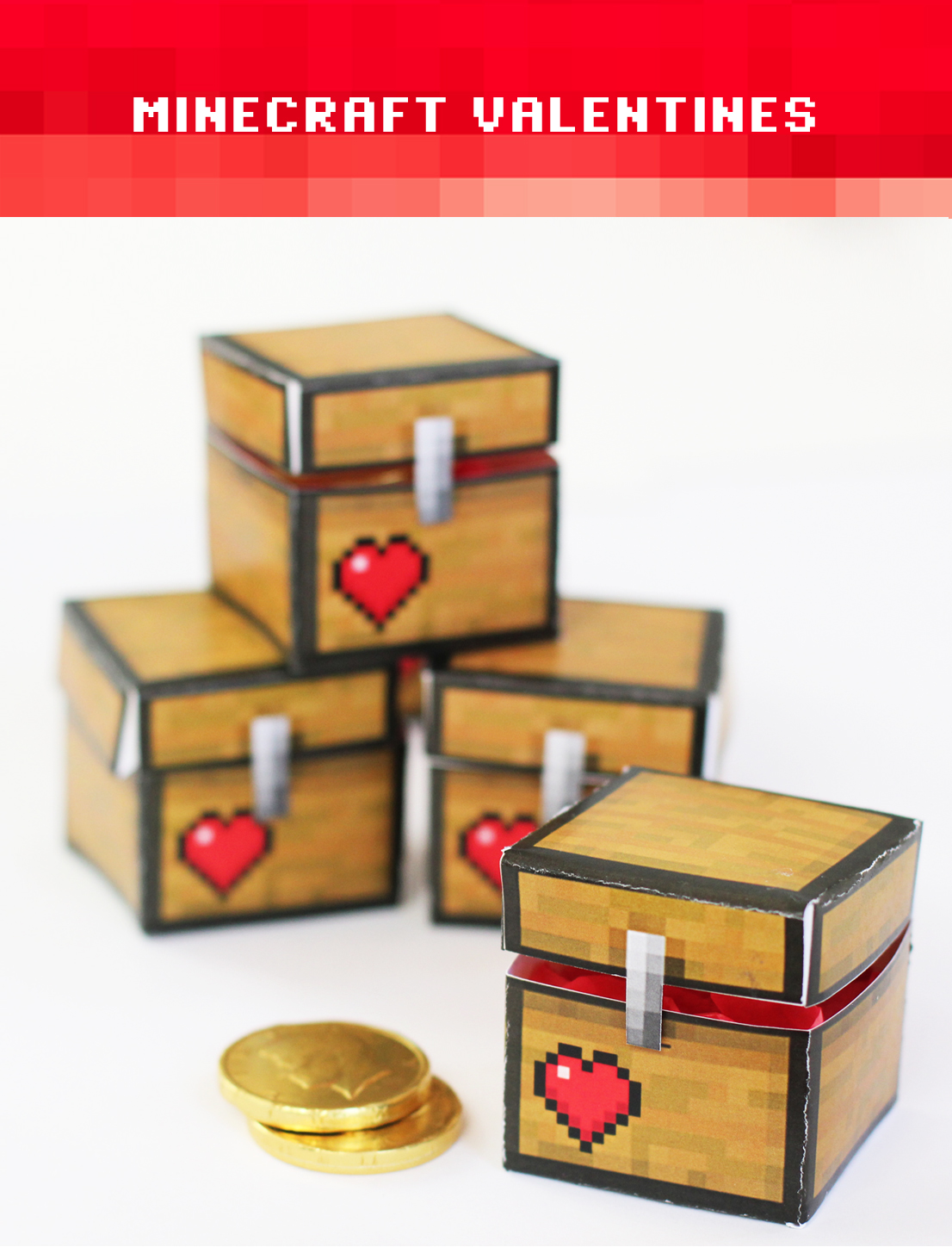 Intrepid image within minecraft valentine box printable