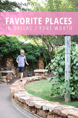 Favorite Places in Dallas / Fort Worth to Visit with Children