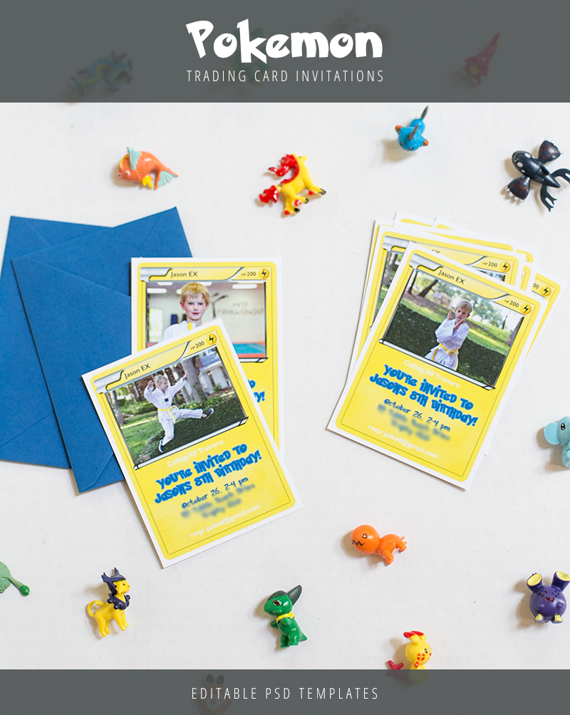 Pokemon Trading Card Invitation Templates – Customize Your Own Birthday Card
